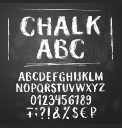 rough chalk latin alphabet vector image