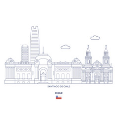 santiago de chile city skyline vector image