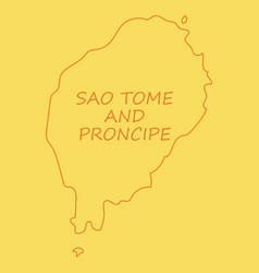 Sao tome and principe map silhouette of sao tome vector