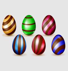 Set easter eggs vector