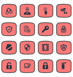 Set of simple safety icons vector