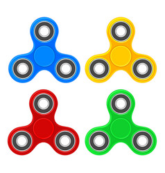set toy spinner flat color vector image