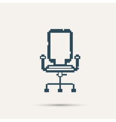 Simple stylish pixel icon chair design vector image vector image