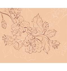 Sketch of Sakura Branch2 vector