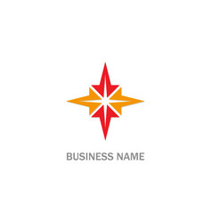 star geometry logo vector image