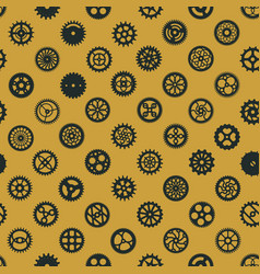 steampunk seamless pattern design victorian era vector image