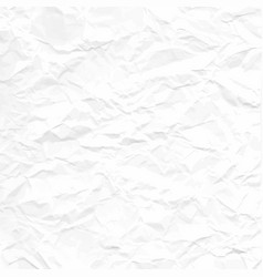 texture crumpled white paper vector image