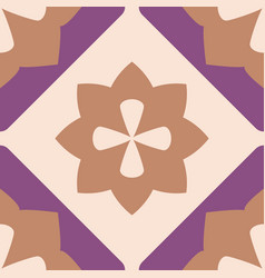 tile decorative floor tiles pattern or background vector image