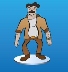 Tired man cartoon vector
