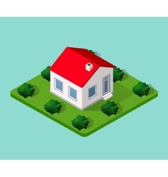 Town House in isometric vector image