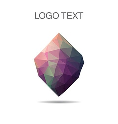 Triangle logo or icon of stone vector image