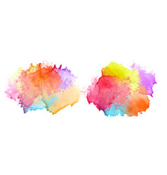 two set colorful watercolor splash banners vector image