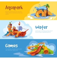 Waterslides in an aquapark vector image