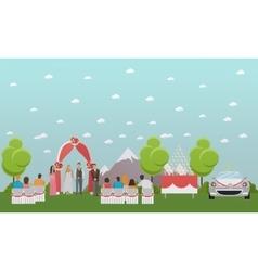 wedding ceremony design banners outdoor vector image