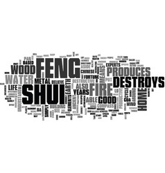 What is feng shui text word cloud concept vector