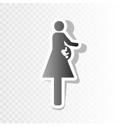 Women and baby sign new year blackish vector
