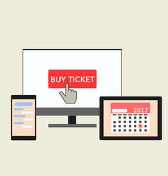 buy ticket online vector image vector image