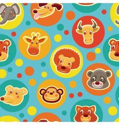 cartoon animal heads vector image
