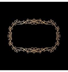 Golden vintage ornamental frame vector image vector image