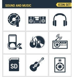 Icons set premium quality of sound symbols and vector