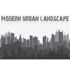Landscape urban silhouette vector image vector image