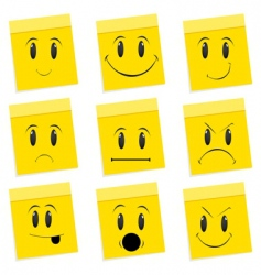 various face expressions vector image vector image