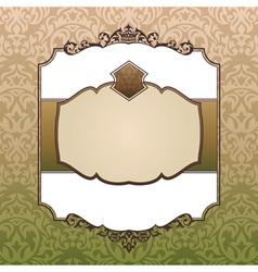 Abstract royal ornate vintage frame vector