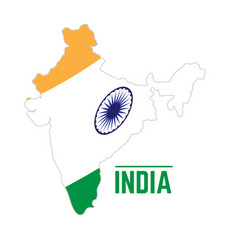 flag and map of india vector image
