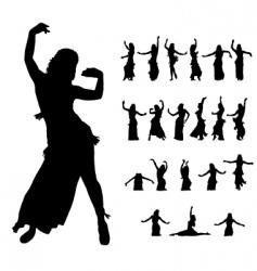 Hula dancers vector