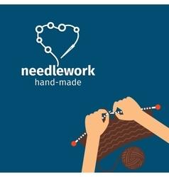 Needlework kids handmade vector image
