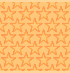 seamless looped pattern with orange stars vector image vector image