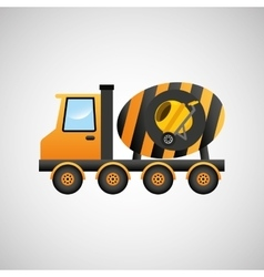 Truck mixer concrete icon graphic vector