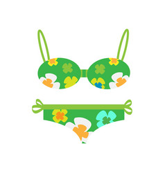 woman s swimsuit flat style vector image
