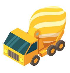 concrete mixer truck icon isometric 3d style vector image