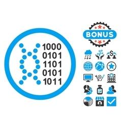 DNA Code Flat Icon with Bonus vector image vector image