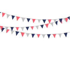 festive bunting flags holiday decorations vector image vector image