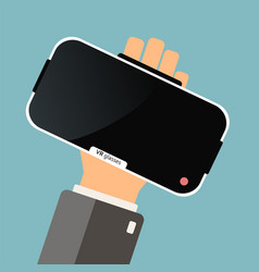 hand hold virtual reality glasses buying virtual vector image vector image