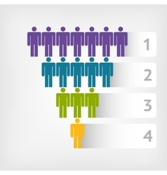 People marketing funnel vector