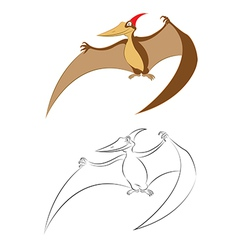Pterano vector image vector image