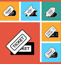 ticket icon isolated vector image