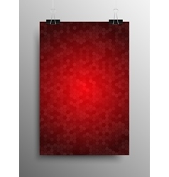 Vertical Poster Tile Honey Comb Red Background vector image