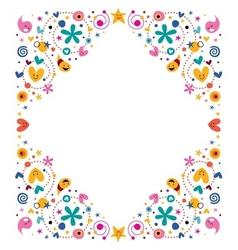 Celebratory happy cartoon frame design element vector