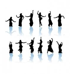 woman dancers vector image vector image