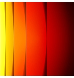 Abstract red orange and yellow paper shapes vector