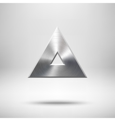 Abstract Triangle Button Template vector image