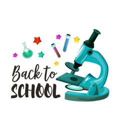 Back to school chemistry lesson poster vector