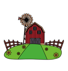 barn farm fresh vector image