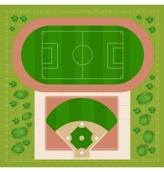 baseball stadiums vector image