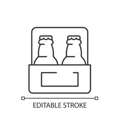 Beer to go linear icon vector