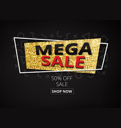 big sale banner poster flyer with geometric vector image